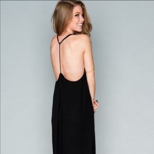 Show me your Mumu Black T Rex Maxi dress medium